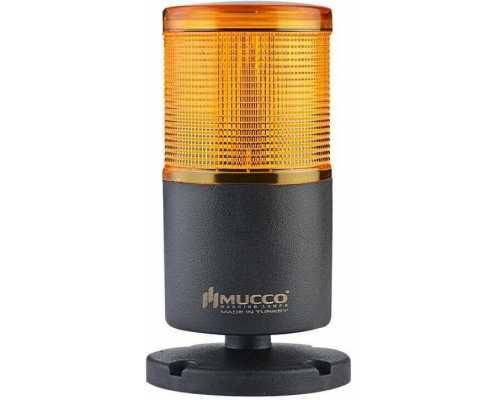 Однослойная светодиодная колонна, вращающаяся с зуммером, 12-24VAC/DC, цвет желтый