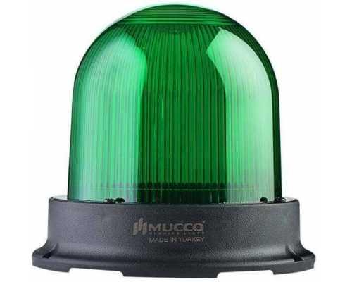Сигнальный маячок серии 125, стробоскопический 3 режимами , 85-260V AC/DC, цвет Зеленый