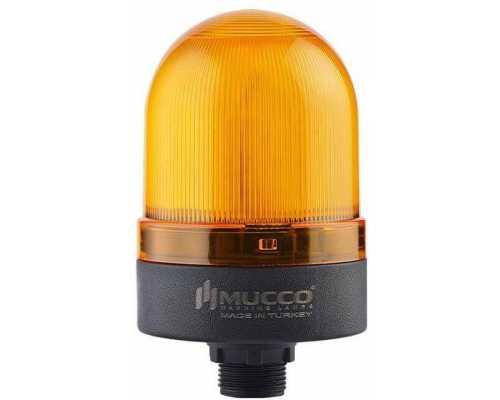 Сигнальный маячок с гайкой диаметром 22 мм, вращающийся с зуммером, 24V/DC, цвет Желтый