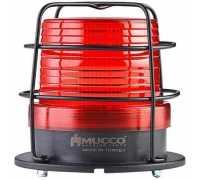 Универсальный сигнальный маяк, стробоскопический с 5 режимами и с защитной решеткой, 85-260VAC/DC, цвет красный