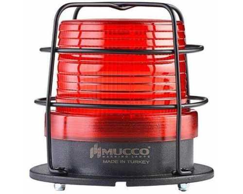 Универсальный сигнальный маячок, стробоскопический с 5 режимами и с защитной решеткой, 85-260VAC/DC, цвет красный