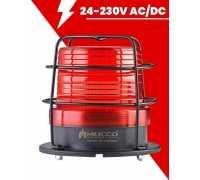 Сигнальный маячок Макси-Вольт, стробоскопический с зуммером, 24-90V/DC - 24-60V/AC, цвет красный