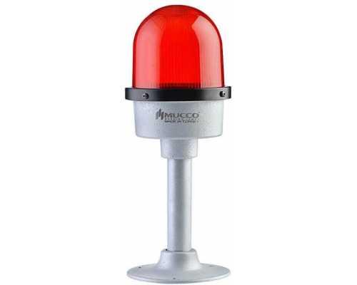 Заградительный огонь (авиационная сигнальная лампа), с напольным креплением, 12V/DC, цвет красный