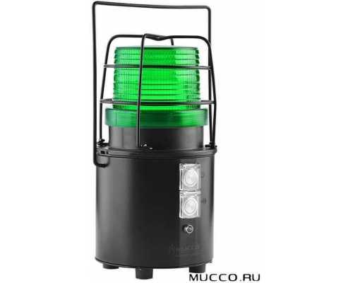 Заряжаемый универсальный сигнальный маяк с зуммером и автономной батареей, цвет зеленый