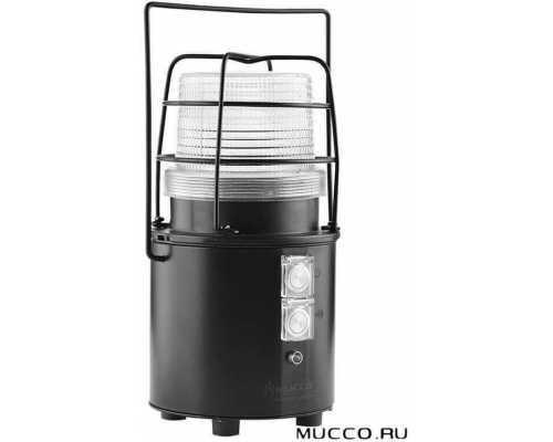 Заряжаемый универсальный сигнальный маяк с зуммером и автономной батареей, цвет белый